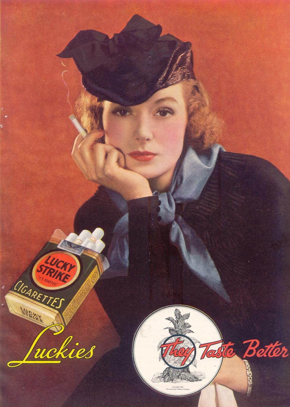 LUCKY STRIKE CIGARETTES GOOD HOUSEKEEPING 03/01/1935