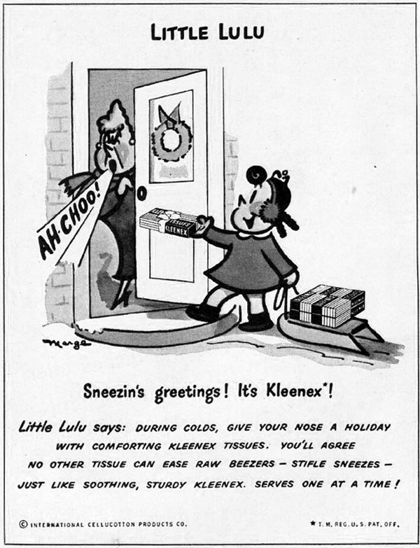 KLEENEX TISSUES LADIES' HOME JOURNAL 11/01/1950 p. 224