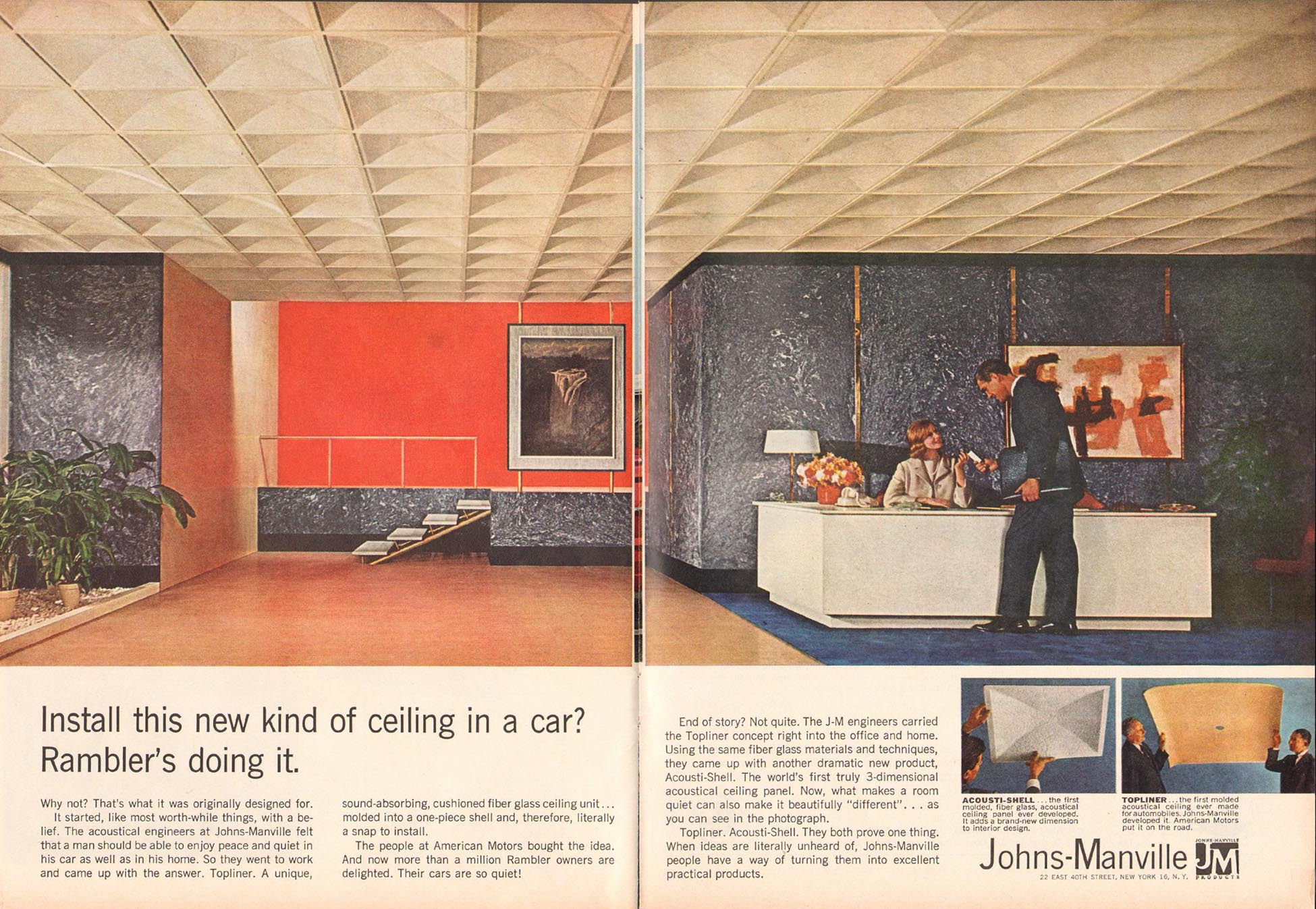 ACOUSTI-SHELL FIBER GLASS CEILING UNITS