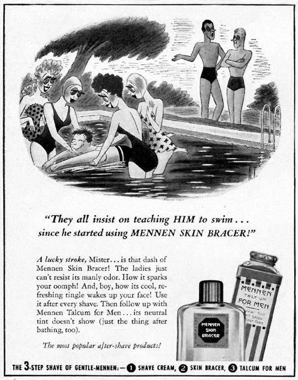 MENNEN SKIN BRACER AFTER SHAVE LOTION LIFE 08/04/1941 p. 4