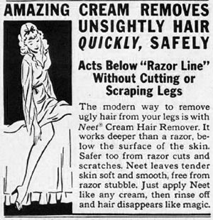 NEET CREAM HAIR REMOVER LADIES' HOME JOURNAL 07/01/1949 p. 135