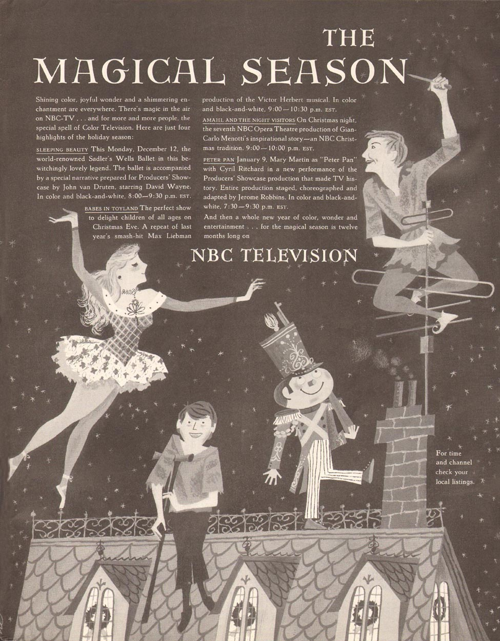NBC TELEVISION NETWORK SATURDAY EVENING POST 12/20/1955 p. 123