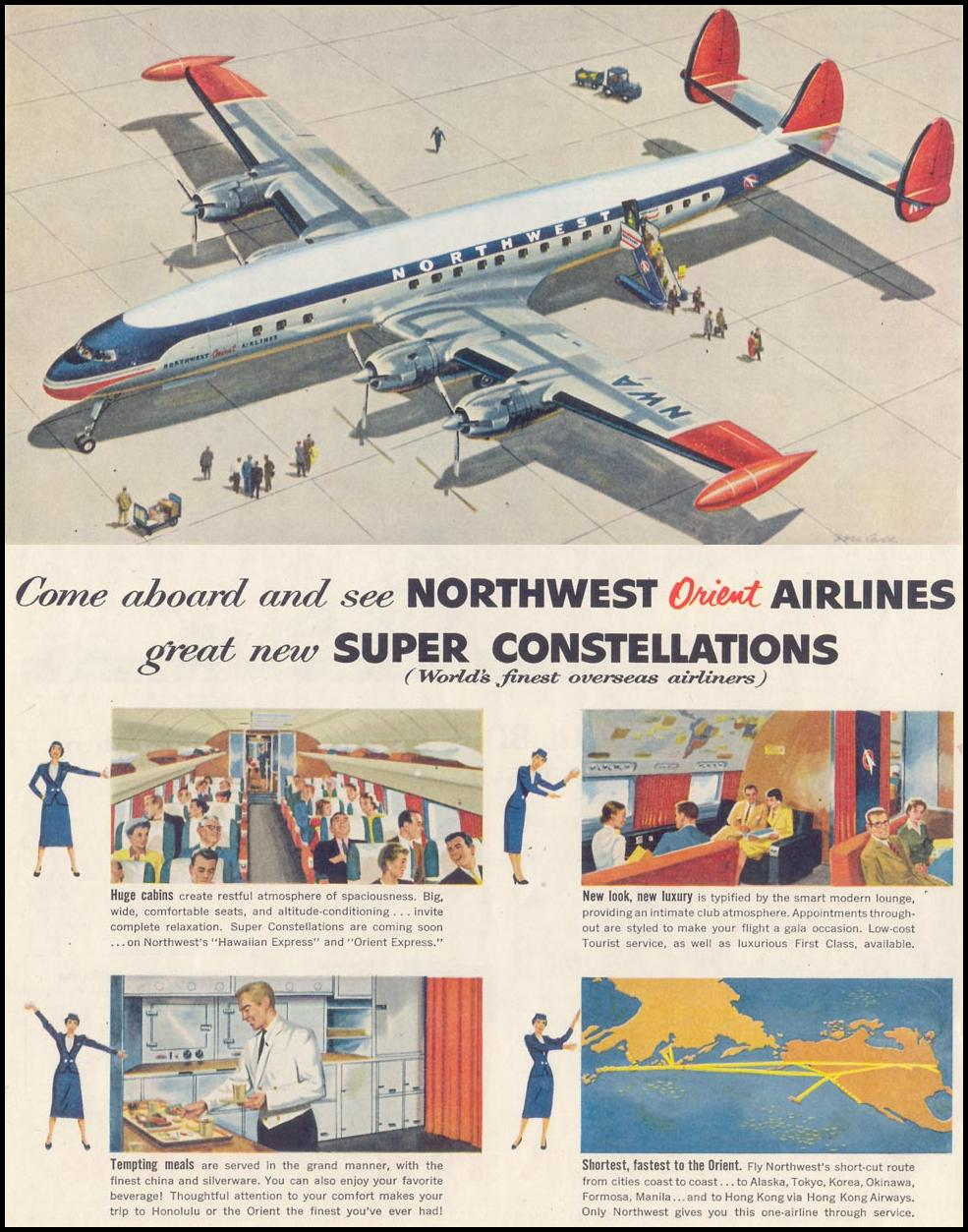 AIR TRAVEL SATURDAY EVENING POST 02/05/1955 p. 88