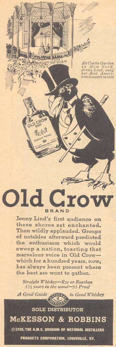 OLD CROW BOURBON WHISKEY LIBERTY 04/11/1936 p. 20