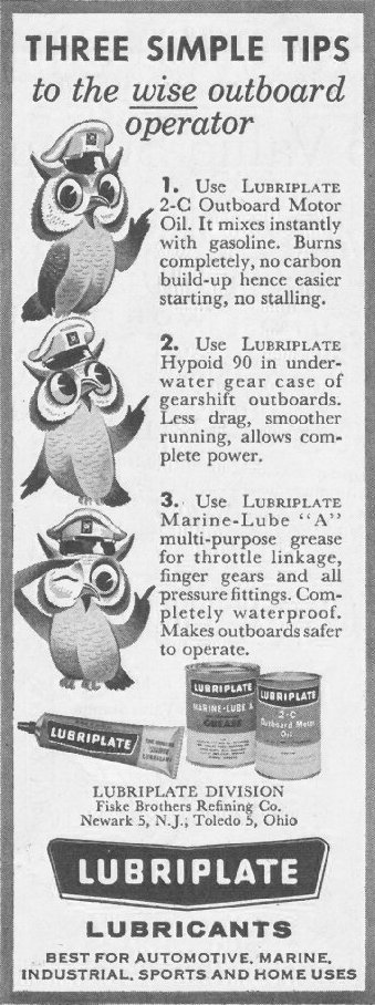 LUBRIPLATE LUBRICANTS SATURDAY EVENING POST 06/11/1960 p. 122