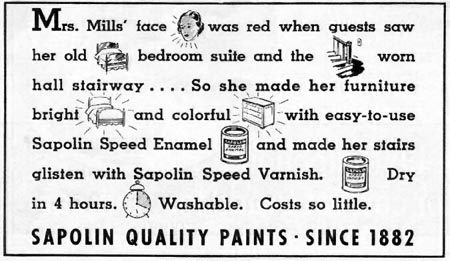 SAPOLIN SPEED VARNISH BETTER HOMES AND GARDENS 05/01/1936 p. 66
