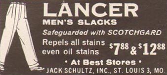 LANCER MEN'S SLACKS LIFE 10/05/1959 p. 162