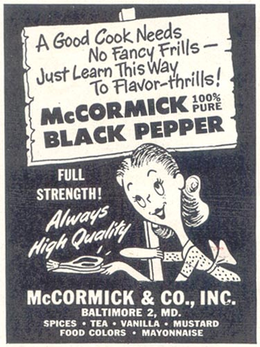 MCCORMICK BLACK PEPPER GOOD HOUSEKEEPING 07/01/1948 p. 158