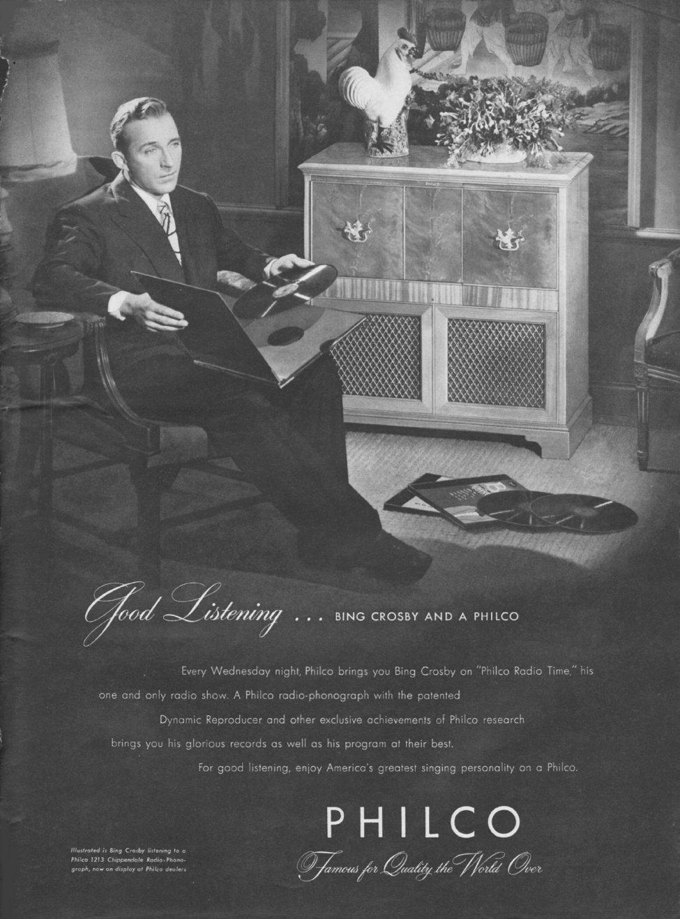 PHILCO RADIOS LIFE 11/25/1946 p. 1