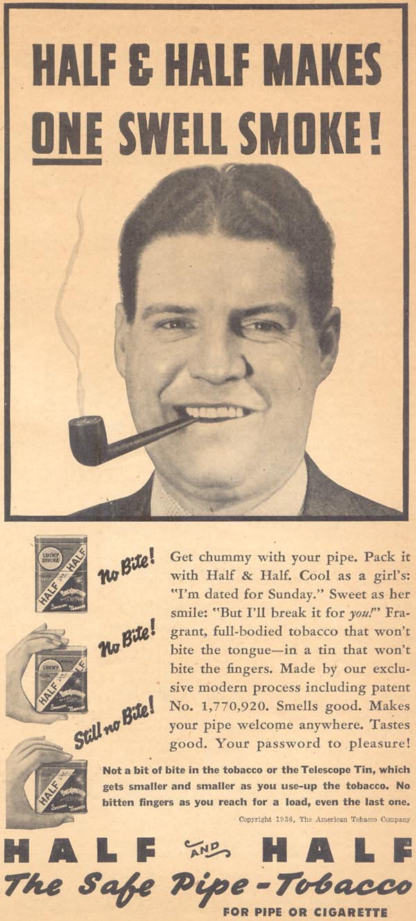 HALF AND HALF PIPE TOBACCO LIBERTY 02/15/1936 p. 19