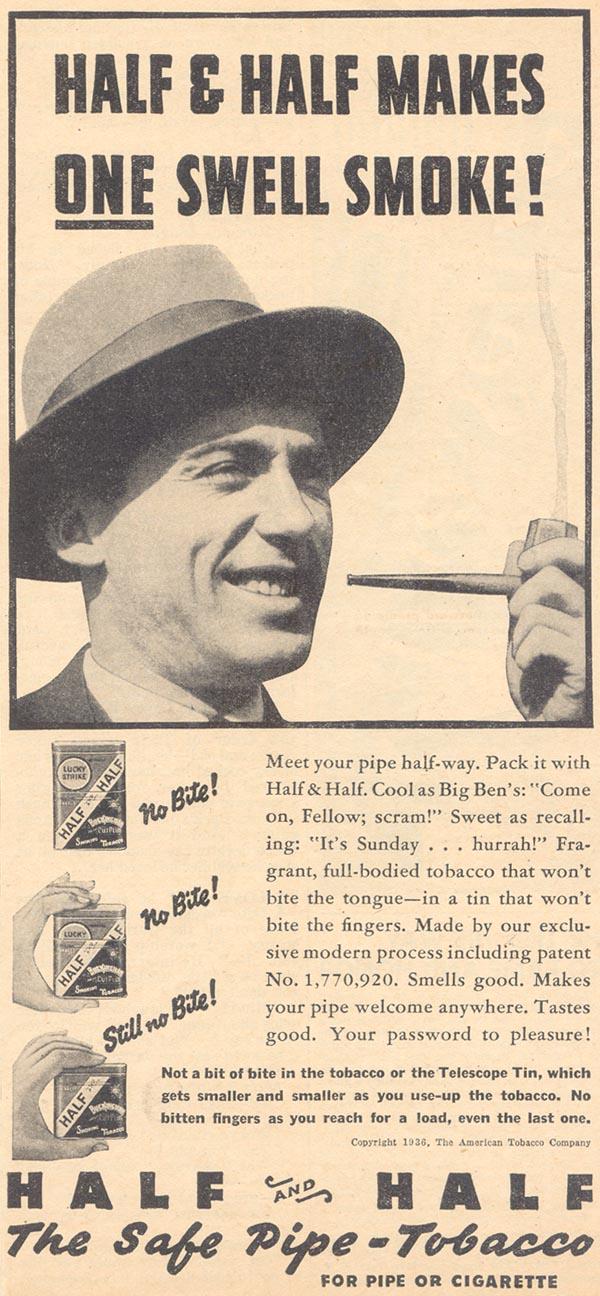 HALF AND HALF PIPE TOBACCO LIBERTY 04/11/1936 p. 21