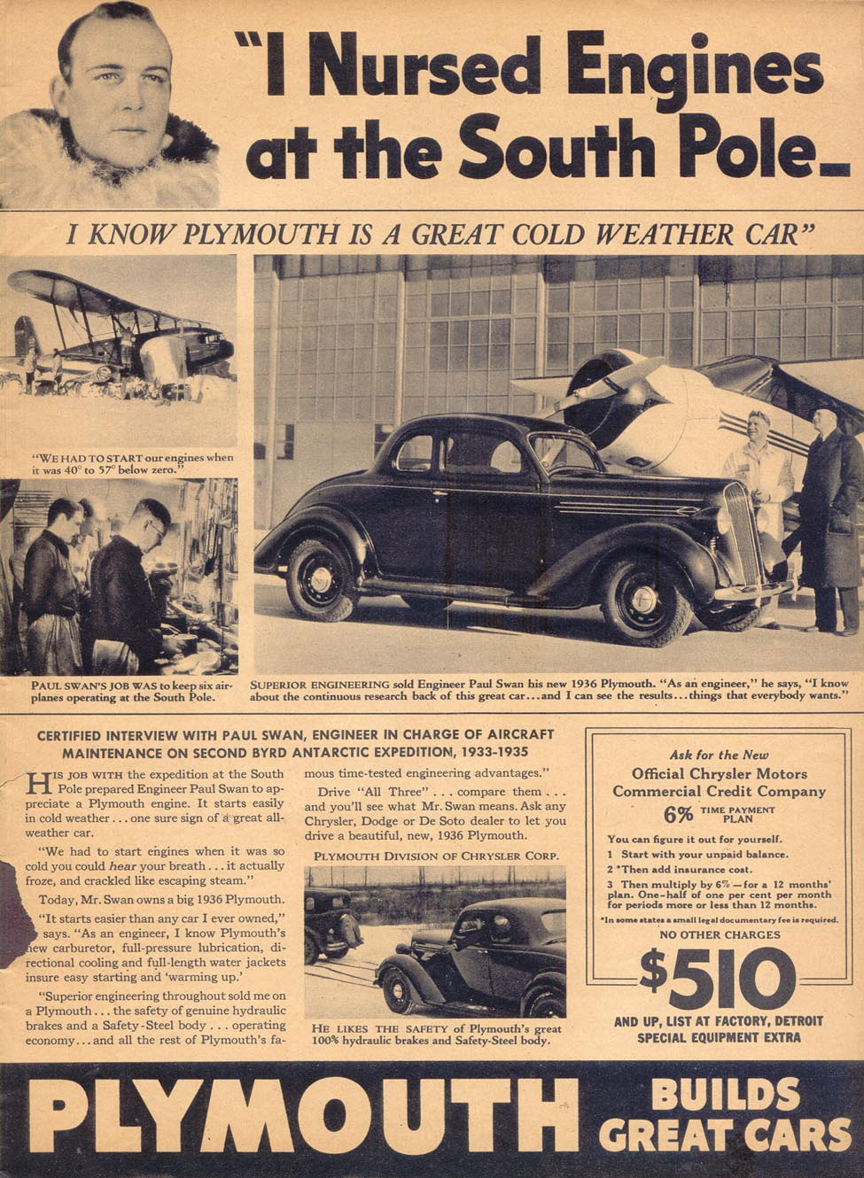 PLYMOUTH AUTOMOBILES LIBERTY 02/01/1936 p. 1