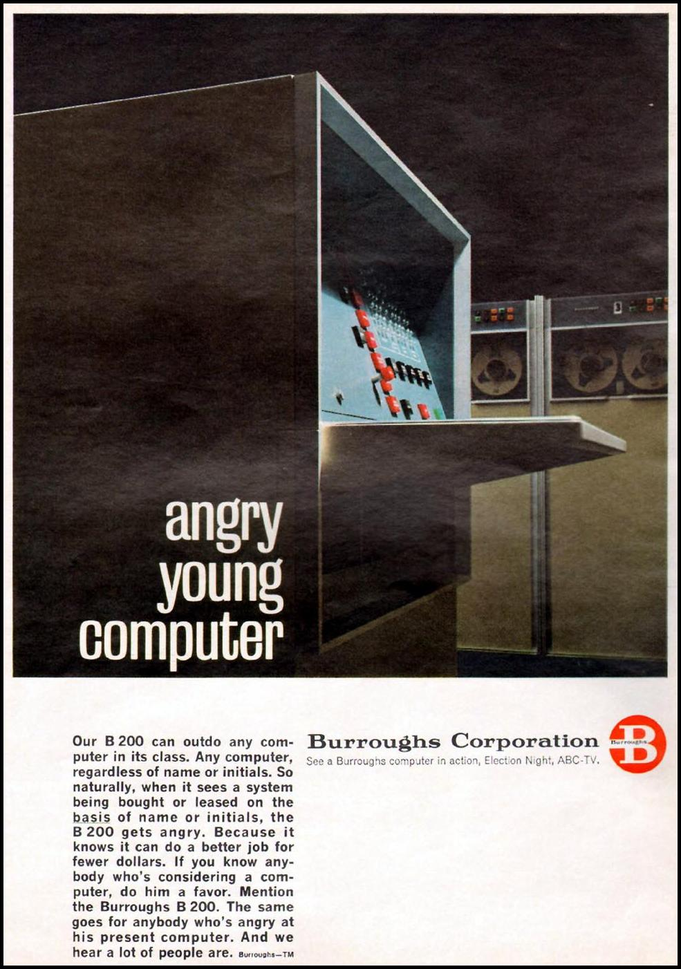 BURROUGHS B 200 COMPUTER NEWSWEEK 10/12/1964