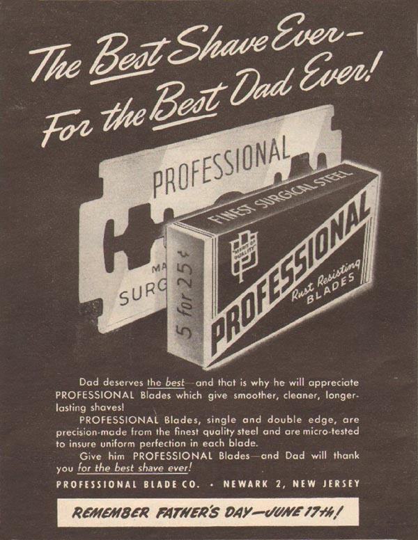 PROFESSIONAL RAZOR BLADES LIFE 06/04/1945 p. 78