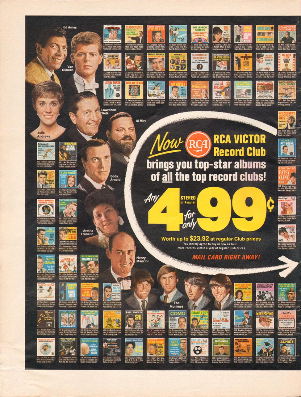 RCA VICTOR RECORD CLUB LIFE 12/22/1967