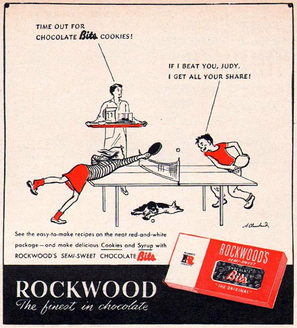 ROCKWOOD CHOCOLATE BITS WOMAN'S DAY 01/01/1947 p. 61