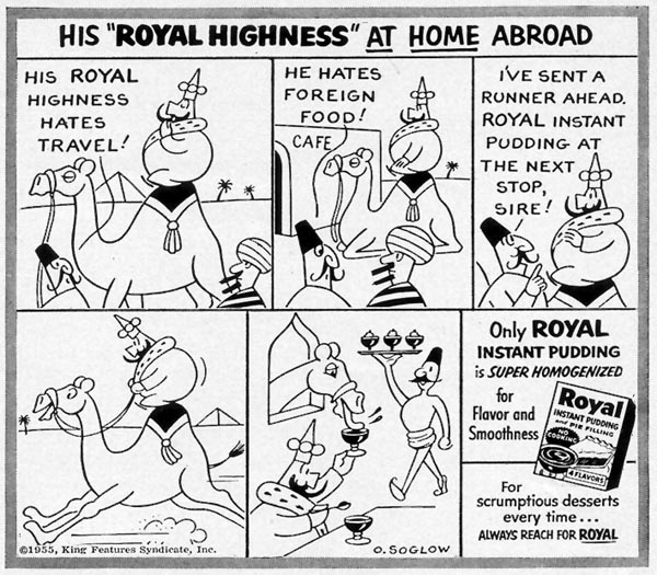 ROYAL PUDDING WOMAN'S DAY 07/01/1955 p. 120