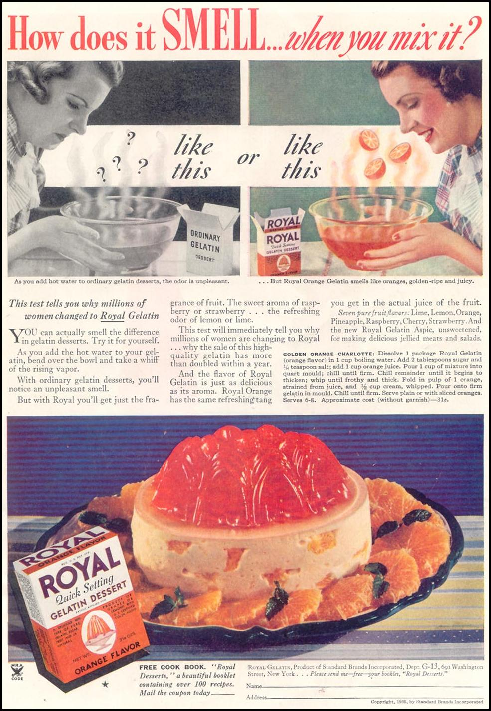 ROYAL GELATIN GOOD HOUSEKEEPING 03/01/1935