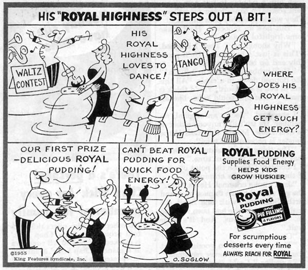 ROYAL PUDDING SATURDAY EVENING POST 03/26/1955 p. 104