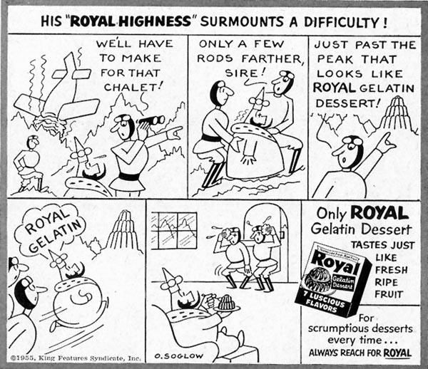 ROYAL GELATIN SATURDAY EVENING POST 04/09/1955 p. 125