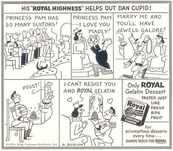 ROYAL GELATIN SATURDAY EVENING POST 06/04/1955 p. 116