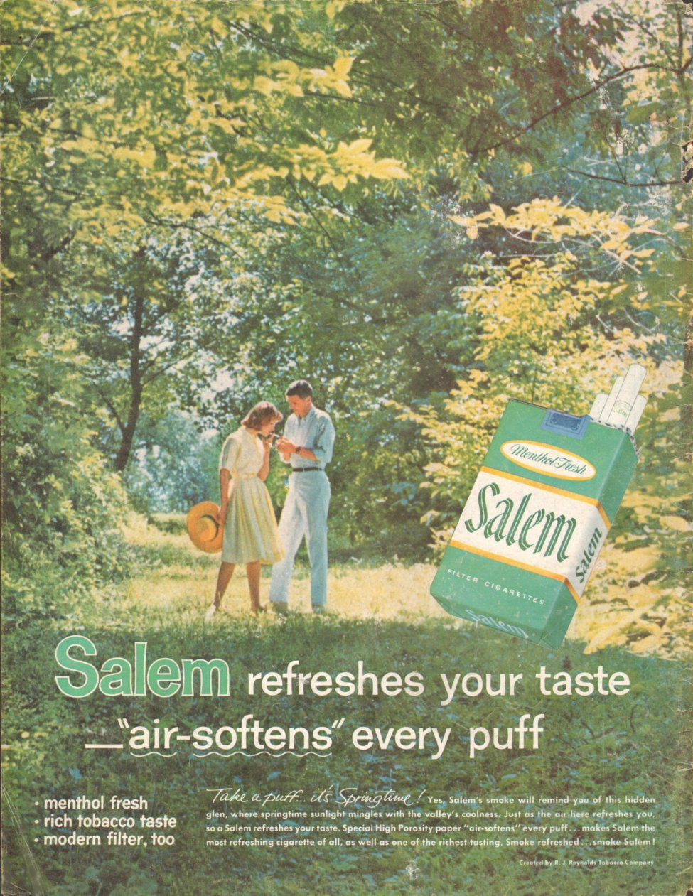 SALEM CIGARETTES LIFE 05/05/1961 BACK COVER