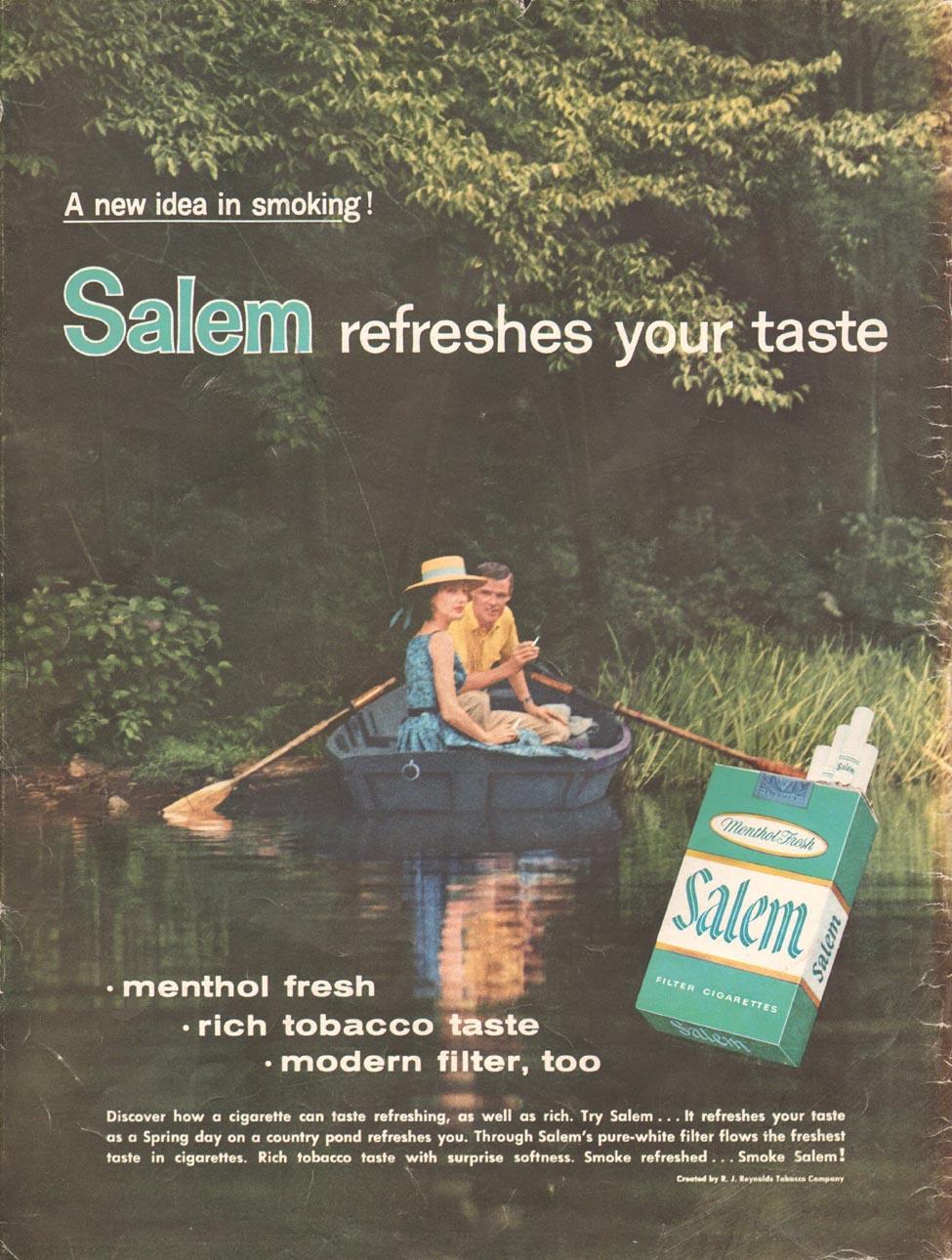 SALEM CIGARETTES LIFE 09/15/1958 BACK COVER