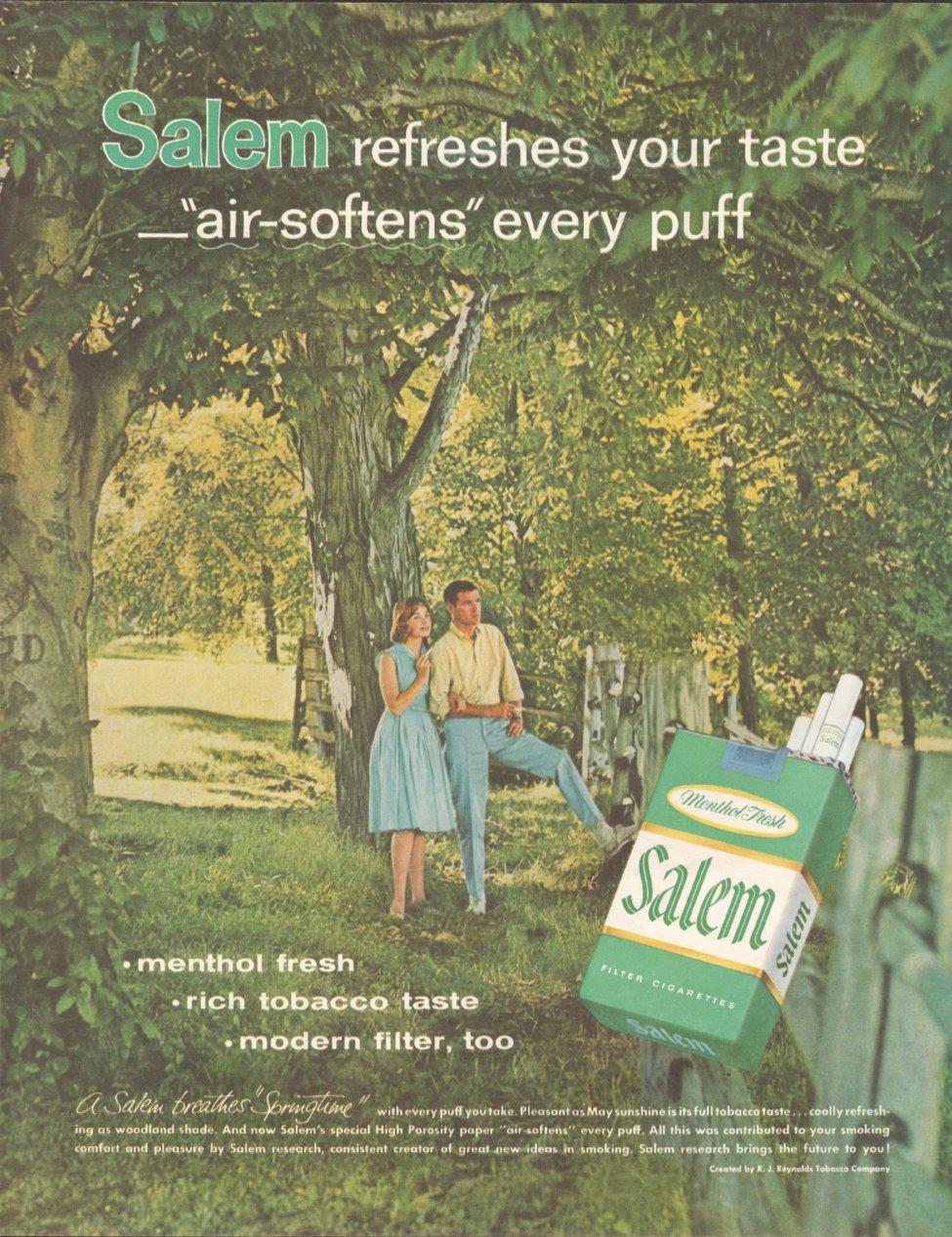 SALEM CIGARETTES SATURDAY EVENING POST 06/11/1960 p. 54