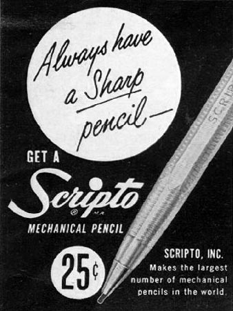 SCRIPTO MECHANICAL PENCILS LIFE 04/30/1951 p. 114