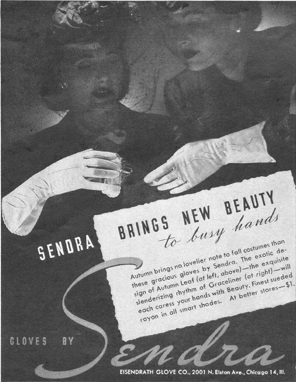 SENDRA GLOVES LIFE 10/25/1943 p. 114