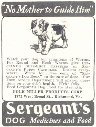 SERGEANT'S DOG MEDICINES GOOD HOUSEKEEPING 11/01/1933 p. 207