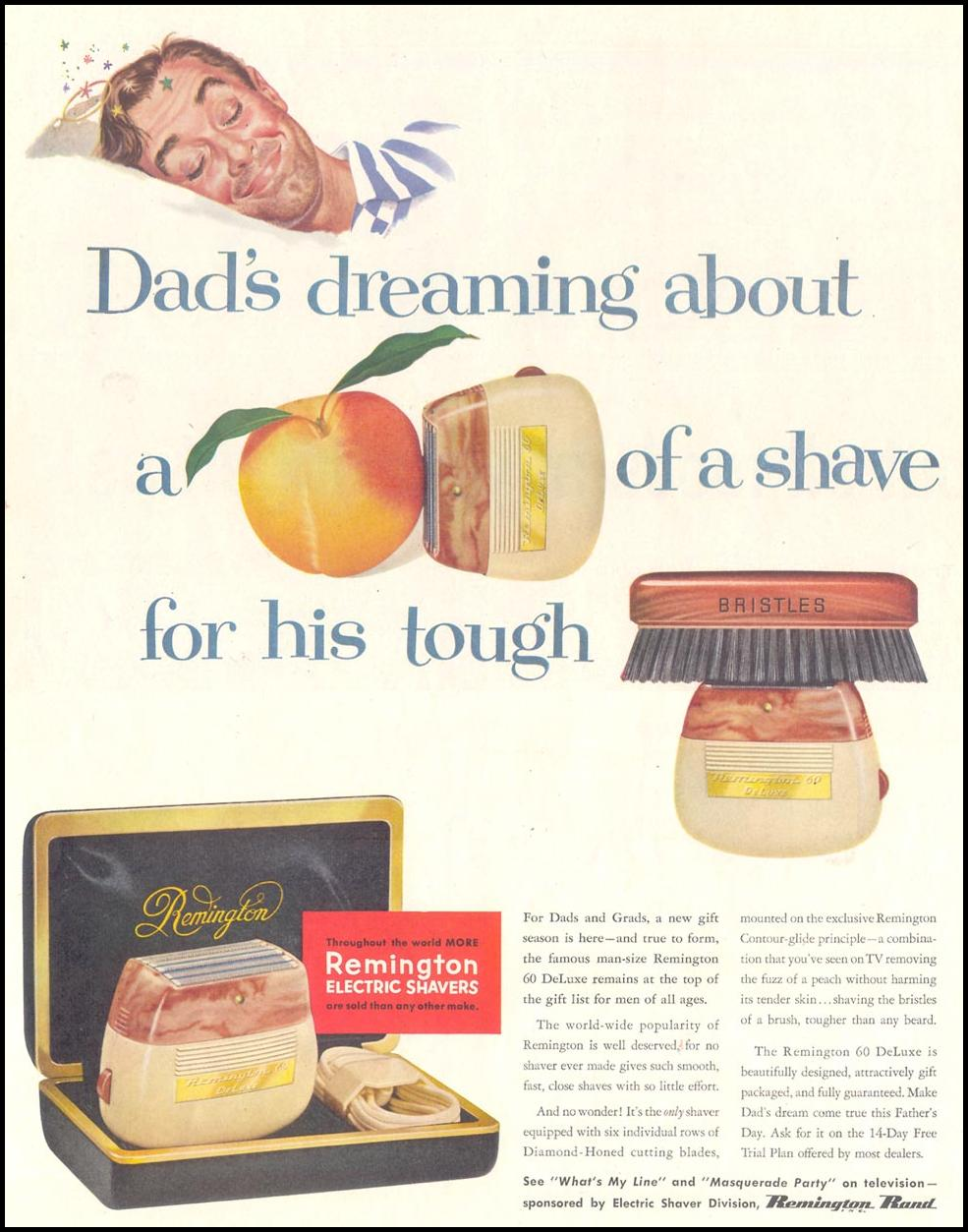 REMINGTON ELECTRIC SHAVERS SATURDAY EVENING POST 06/04/1955