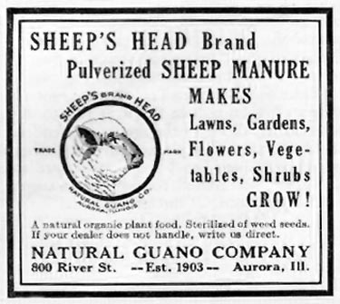 PULVERIZED SHEEP MANURE BETTER HOMES AND GARDENS 03/01/1932 p. 58