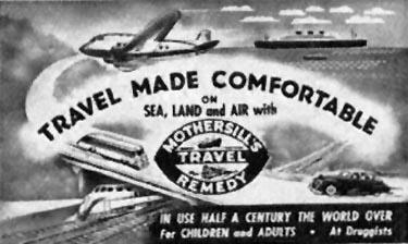 MOTHERSILL'S SEASICK REMEDY WOMAN'S HOME COMPANION 12/01/1952 p. 98