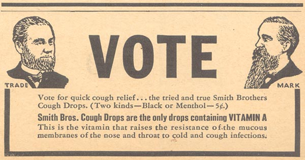SMITH BROS. COUGH DROPS LIBERTY 11/28/1936 p. 41