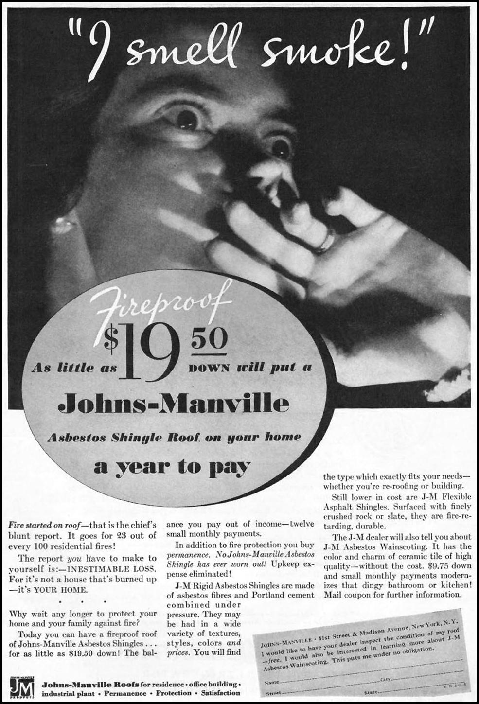 JOHNS-MANVILLE RIGID ASBESTOS SHINGLES BETTER HOMES AND GARDENS 03/01/1932 p. 5