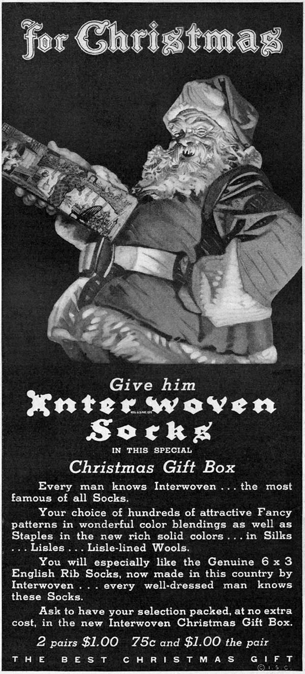 INTERWOVEN SOCKS GOOD HOUSEKEEPING 12/01/1933 p. 191