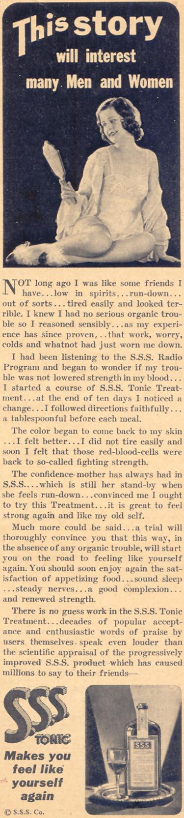 S. S. S. TONIC LIBERTY 04/11/1936 p. 57