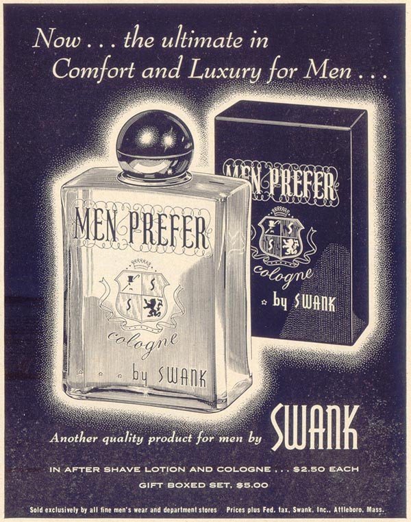 MEN PREFER AFTER SHAVE LOTION LIFE 11/11/1957 p. 165