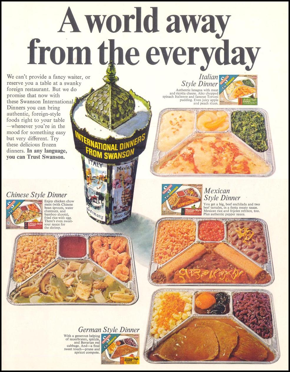 SWANSON INTERNATIONAL DINNERS LIFE 12/22/1967 p. 47