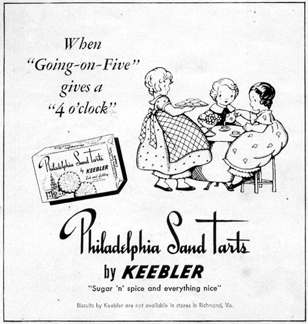 PHILADELPHIA SAND TARTS WOMAN'S DAY 05/01/1950 p. 142