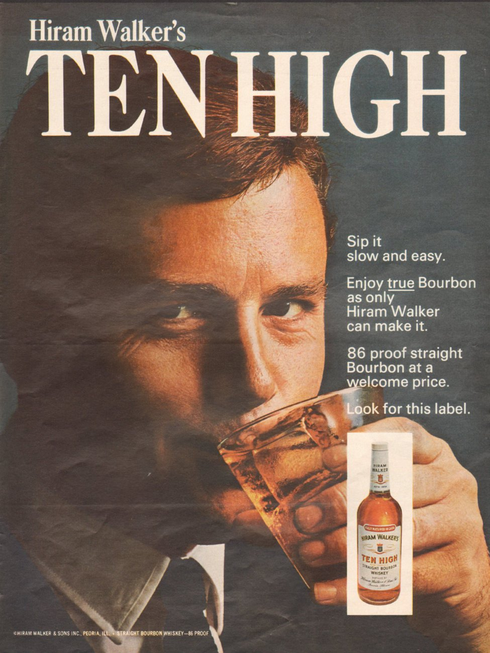 HIRAM WALKER'S TEN HIGH BOURBON WHISKEY LIFE 11/04/1966