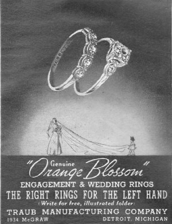 ENGAGEMENT AND WEDDING RINGS LIFE 06/22/1942 p. 91