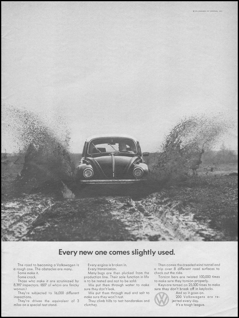 VOLKSWAGEN AUTOMOBILES NEWSWEEK 06/17/1968 p. 9