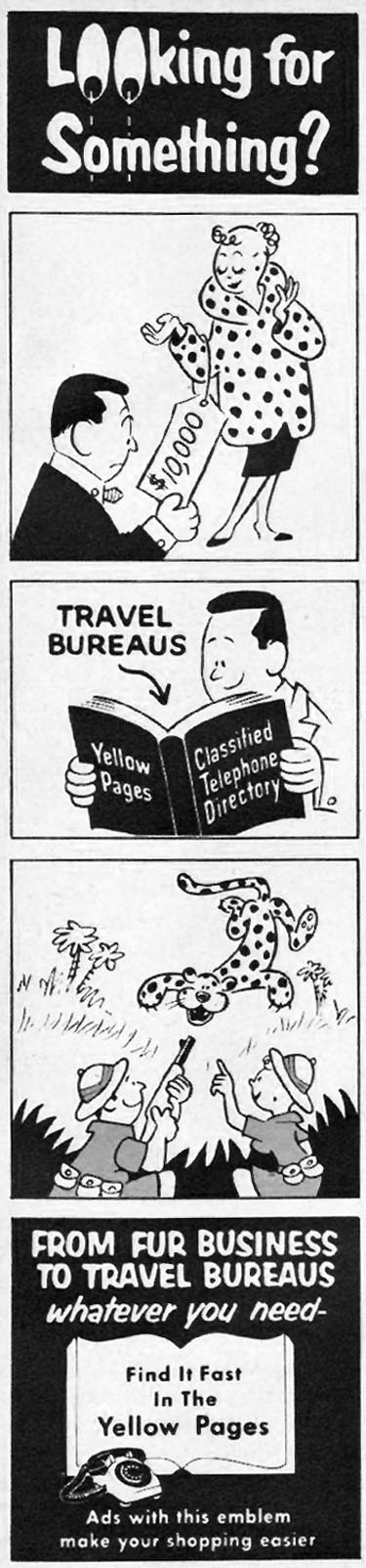 YELLOW PAGES FAMILY CIRCLE 11/01/1957 p. 72