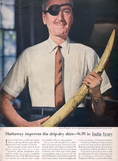 """Hathaway's """"Man in the Hathaway Shirt"""" Campaign 
